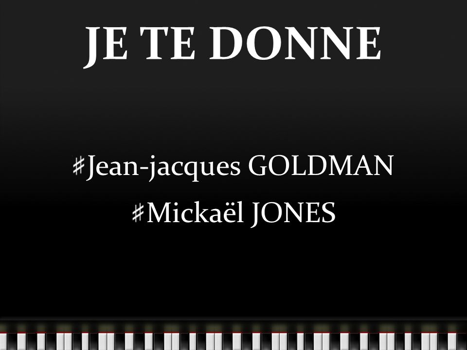 I can give a voice, bred with rythms and soul The heart of a Welsh boy who s lost his home Put it in harmony, let the words ring Carry your thoughts in the song we sing Je te donne mes notes, je te donne mes mots Quand ta voix les emporte a ton propre tempo Une épaule fragile et solide à la fois Ce que j imagine et ce que je crois.