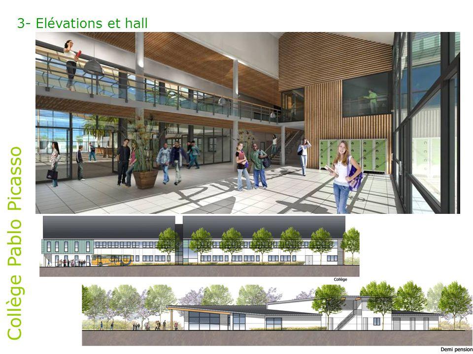 Collège Pablo Picasso 3- Elévations et hall