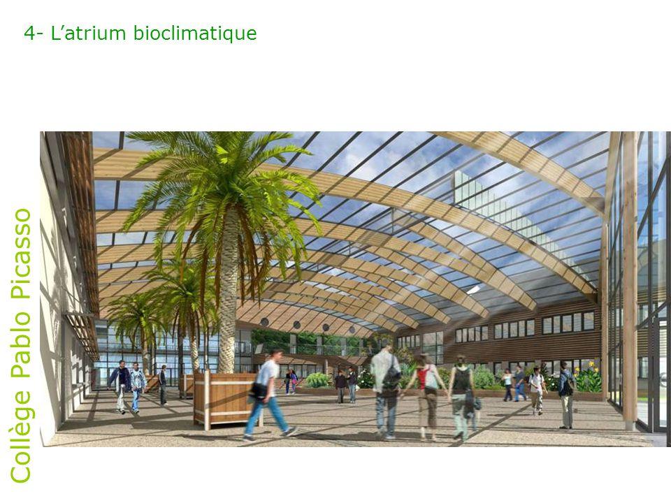 Collège Pablo Picasso 4- L'atrium bioclimatique