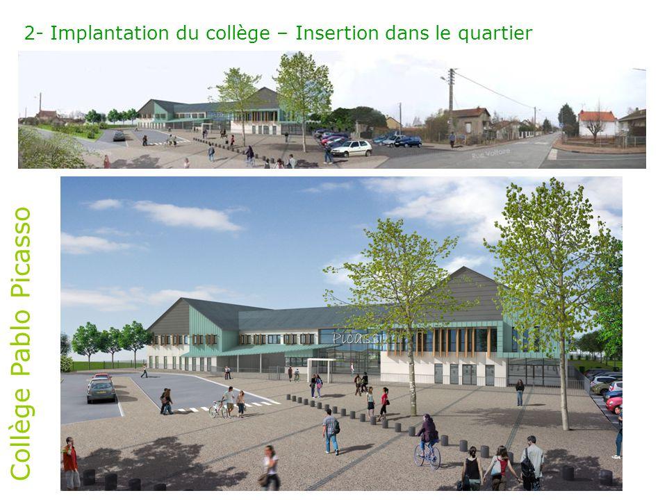 Collège Pablo Picasso 2- Implantation du collège – abords (Maîtrise d'ouvrage: ville de Châlette-sur-Loing)