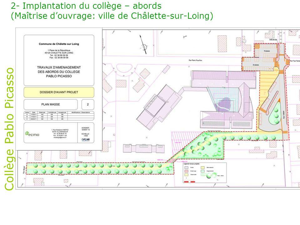 Collège Pablo Picasso 3- Organisation fonctionnelle – Plan masse Logements ½ pension - Maintenance Plateau sportif Enseignement Parkings