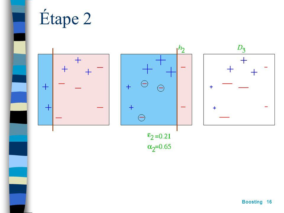 Boosting 15 Étape 1
