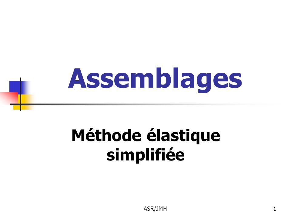 ASR/JMH1 Assemblages Méthode élastique simplifiée