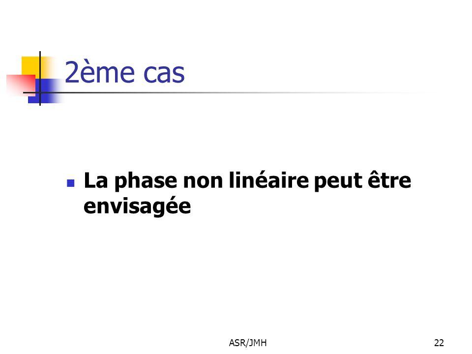 ASR/JMH22 2ème cas La phase non linéaire peut être envisagée