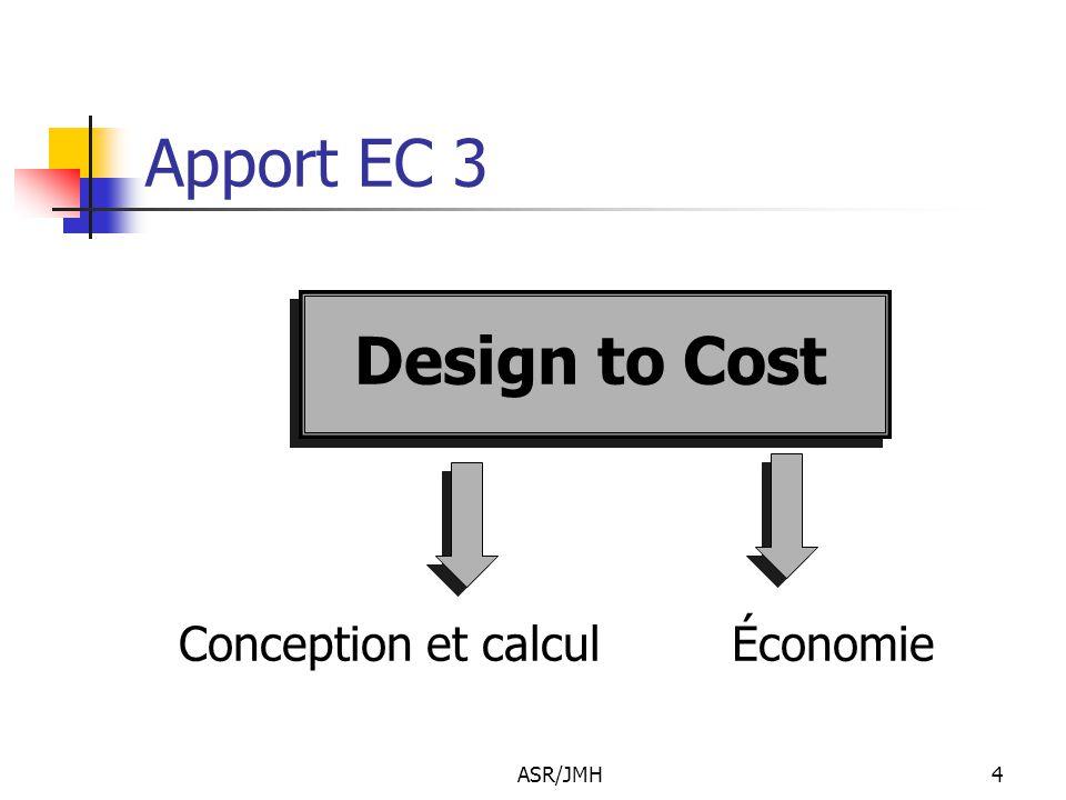 ASR/JMH4 Apport EC 3 Design to Cost Conception et calcul Économie