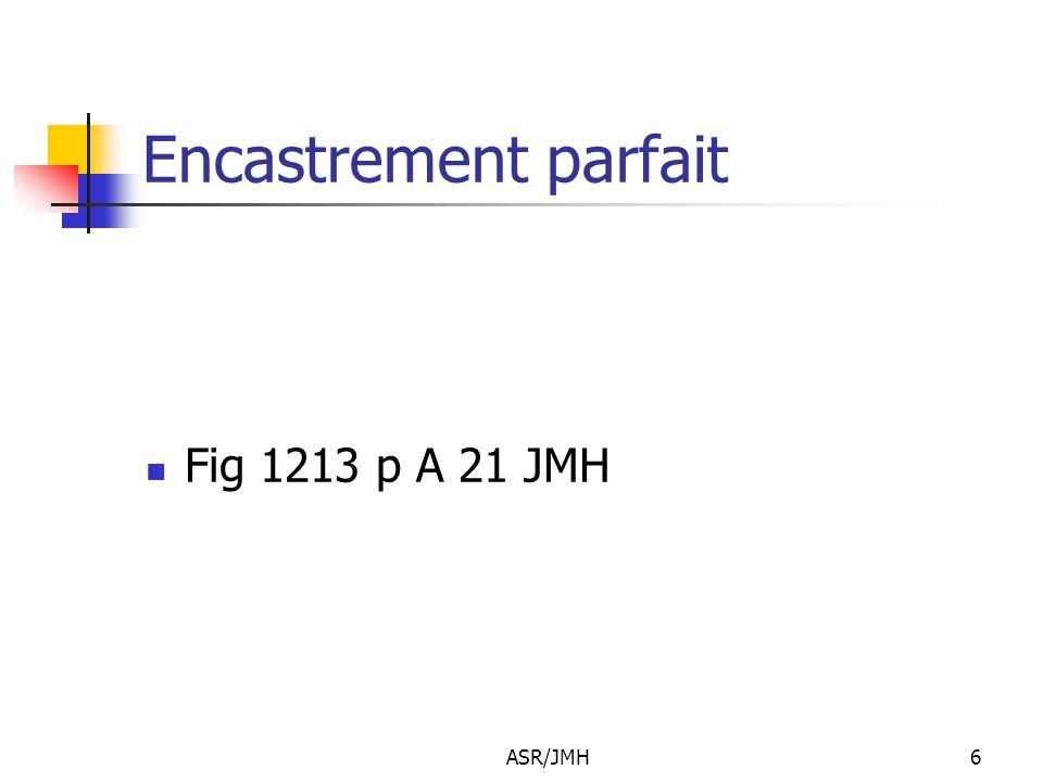 ASR/JMH6 Encastrement parfait Fig 1213 p A 21 JMH