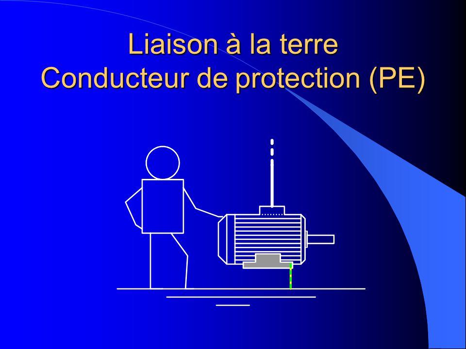 Liaison à la terre Conducteur de protection (PE)