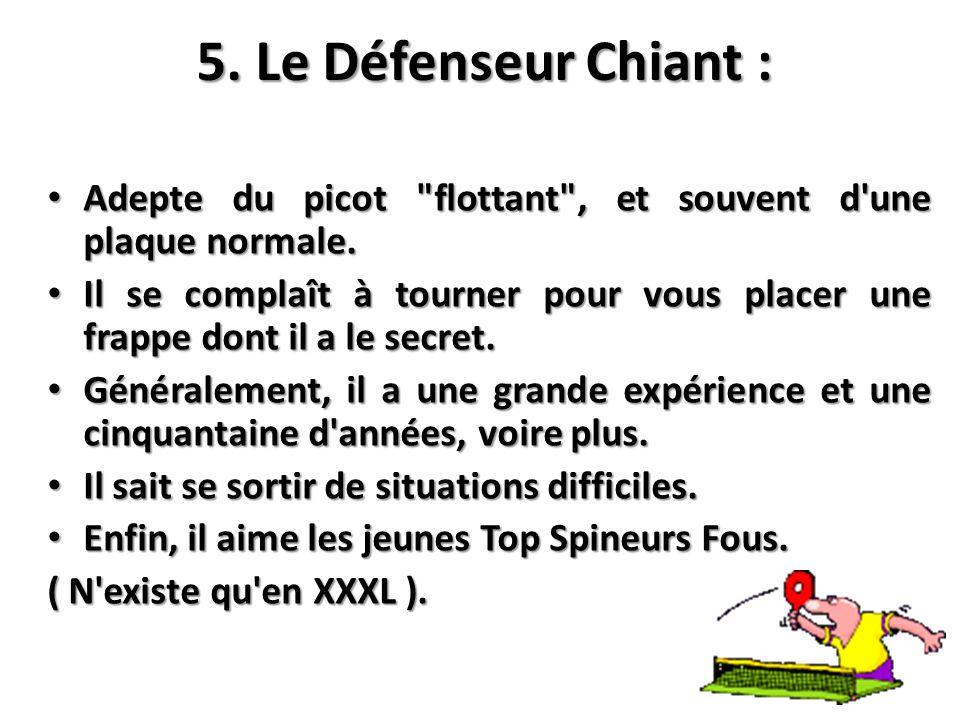 5. Le Défenseur Chiant : Adepte du picot