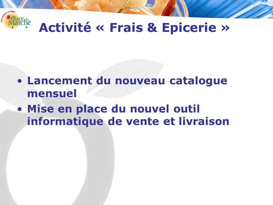 Activité « Frais & Epicerie » Lancement du nouveau catalogue mensuel Mise en place du nouvel outil informatique de vente et livraison