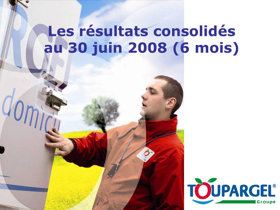 Les résultats consolidés au 30 juin 2008 (6 mois)