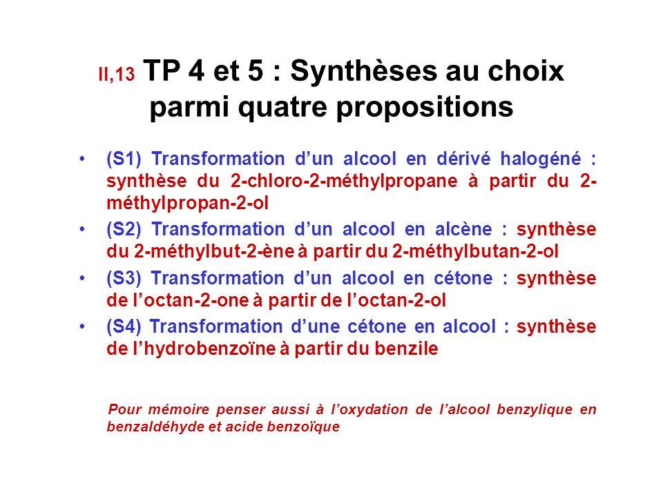 Utiliser les tests de reconnaissance des groupes caractéristiques aldéhyde, cétone Savoir identifier les produits de l'oxydation ménagée d'un alcool l