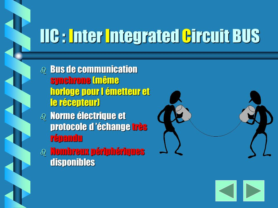 Le BUS IIC Communications séries synchrones