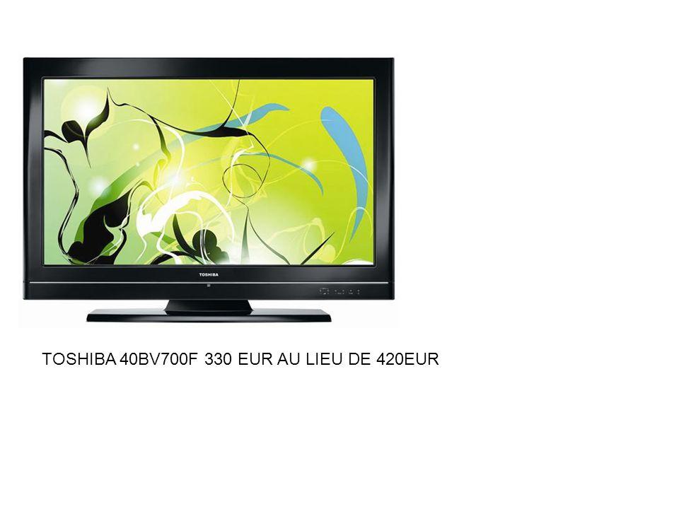 Caractéristiques techniques de la Dalle du téléviseur LCD TOSHIBA 40BV700F Technologies :TFT Brillance :Dalle semi-brillante (reflets potentiels) Rétroéclairage : Tubes fluorescents Type : CCFL Cathode Froide qui fournit un spectre de lumière spécifique.