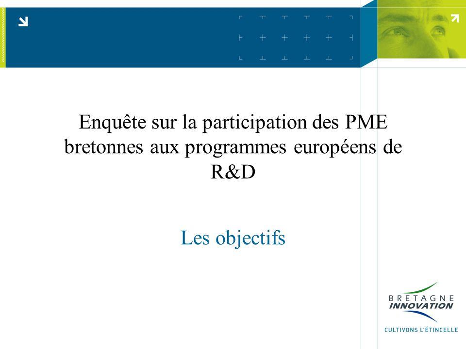 Enquête sur la participation des PME bretonnes aux programmes européens de R&D Les objectifs