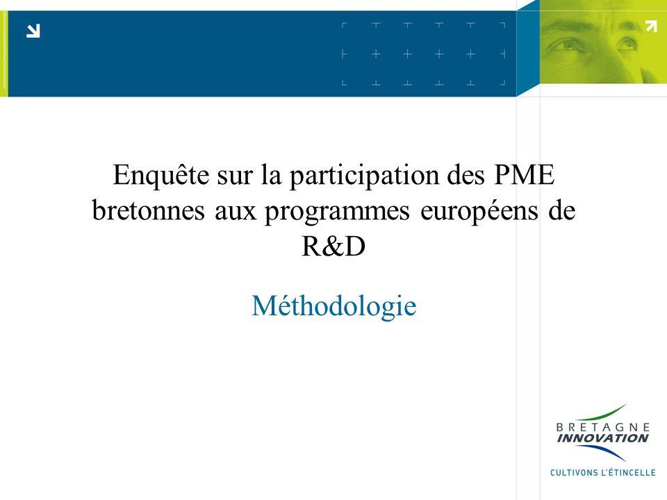 Enquête sur la participation des PME bretonnes aux programmes européens de R&D Méthodologie