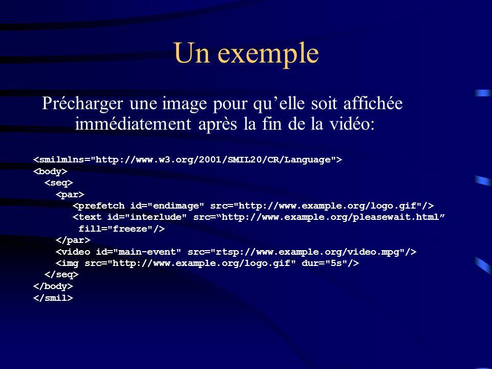 Un exemple Précharger une image pour qu'elle soit affichée immédiatement après la fin de la vidéo: