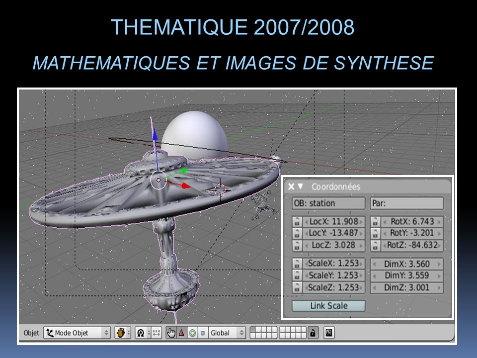 THEMATIQUE 2007/2008 MATHEMATIQUES ET IMAGES DE SYNTHESE