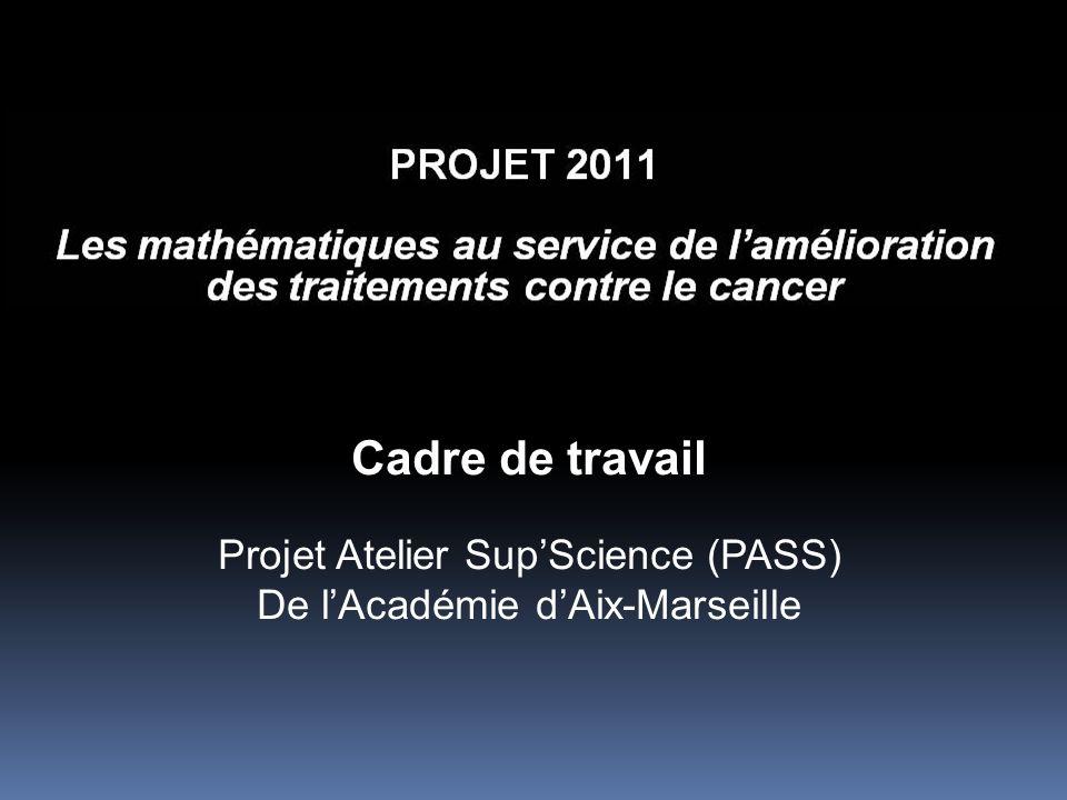 Cadre de travail Projet Atelier Sup'Science (PASS) De l'Académie d'Aix-Marseille