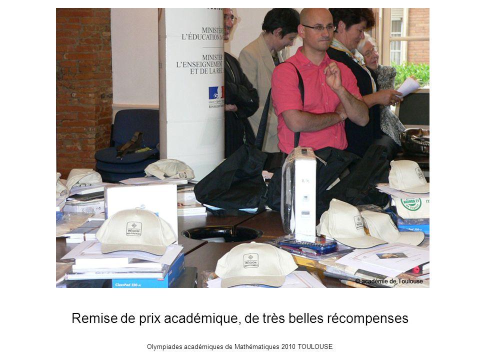 Olympiades académiques de Mathématiques 2010 TOULOUSE Remise de prix académique, de très belles récompenses