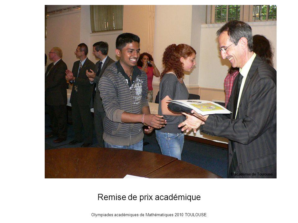 Olympiades académiques de Mathématiques 2010 TOULOUSE Remise de prix académique