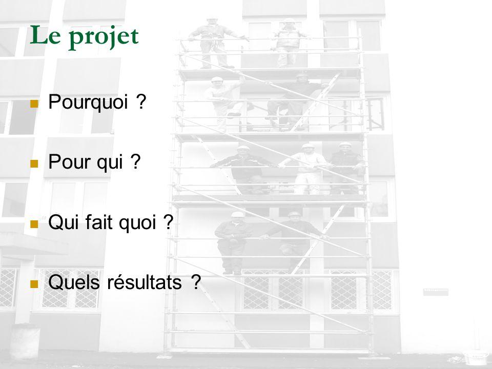 Le projet Pourquoi ? Pour qui ? Qui fait quoi ? Quels résultats ?
