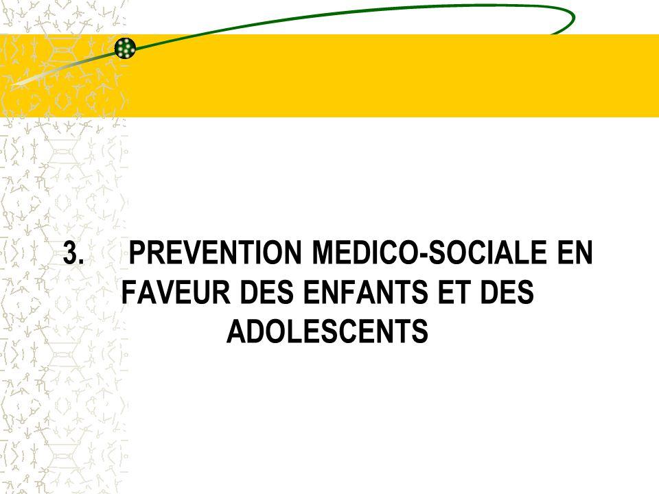 3.PREVENTION MEDICO-SOCIALE EN FAVEUR DES ENFANTS ET DES ADOLESCENTS