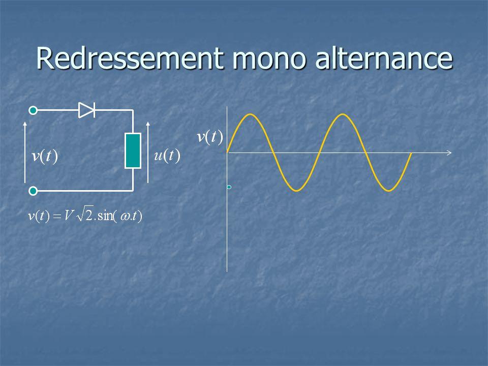 Redressement mono alternance