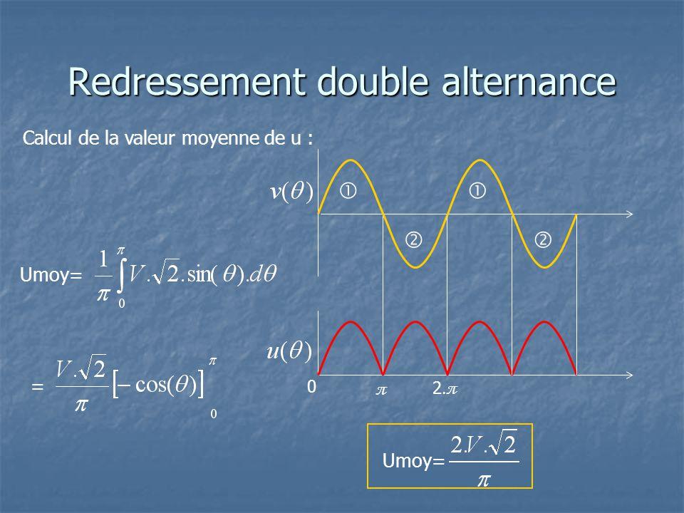     Calcul de la valeur moyenne de u : Umoy= 0 π 2.π =