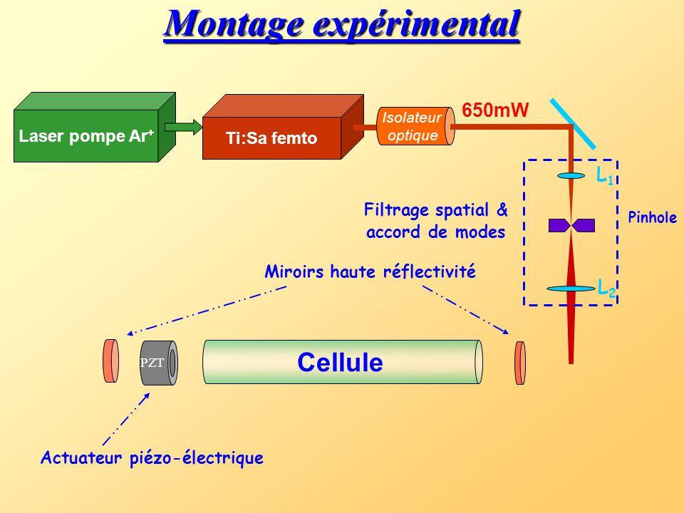 1. Mode-Locked Cavity Enhanced Absorption Spectroscopy « première démonstration » II - Expériences T. Gherman & D. Romanini Optics Express vol.10 No.1