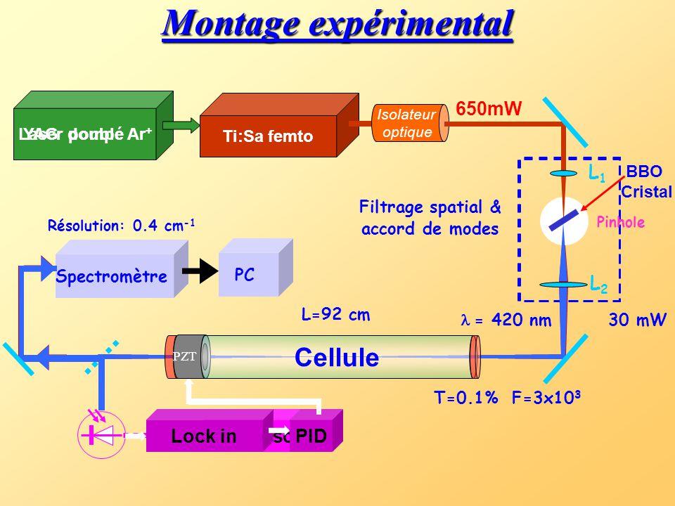 2. ML-CEAS dans le bleu: T. Gherman, S. Kassi, A. Campargue, D. Romanini Chem. Phys. Lett. 383 (2004) 353-358 a) application à l'acétylène.