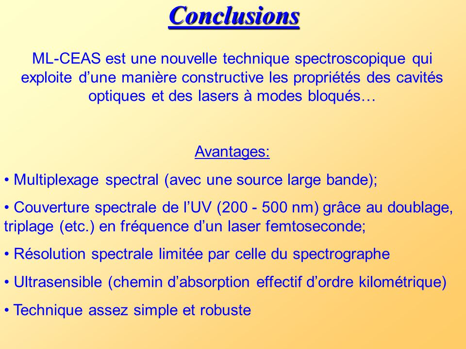 III - Conclusion et perspectives