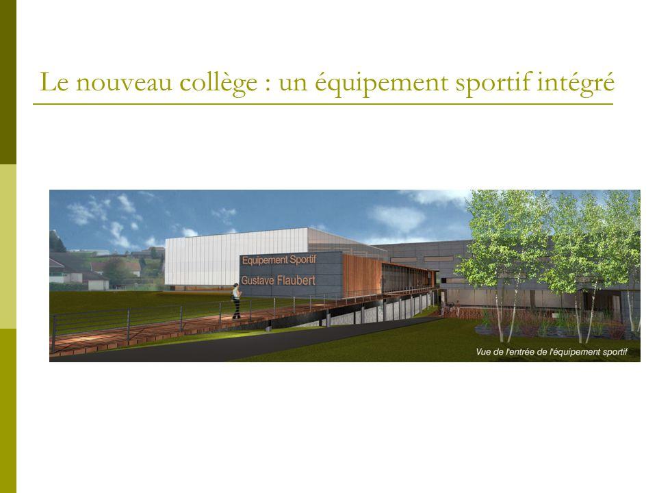 Le nouveau collège : un équipement sportif intégré