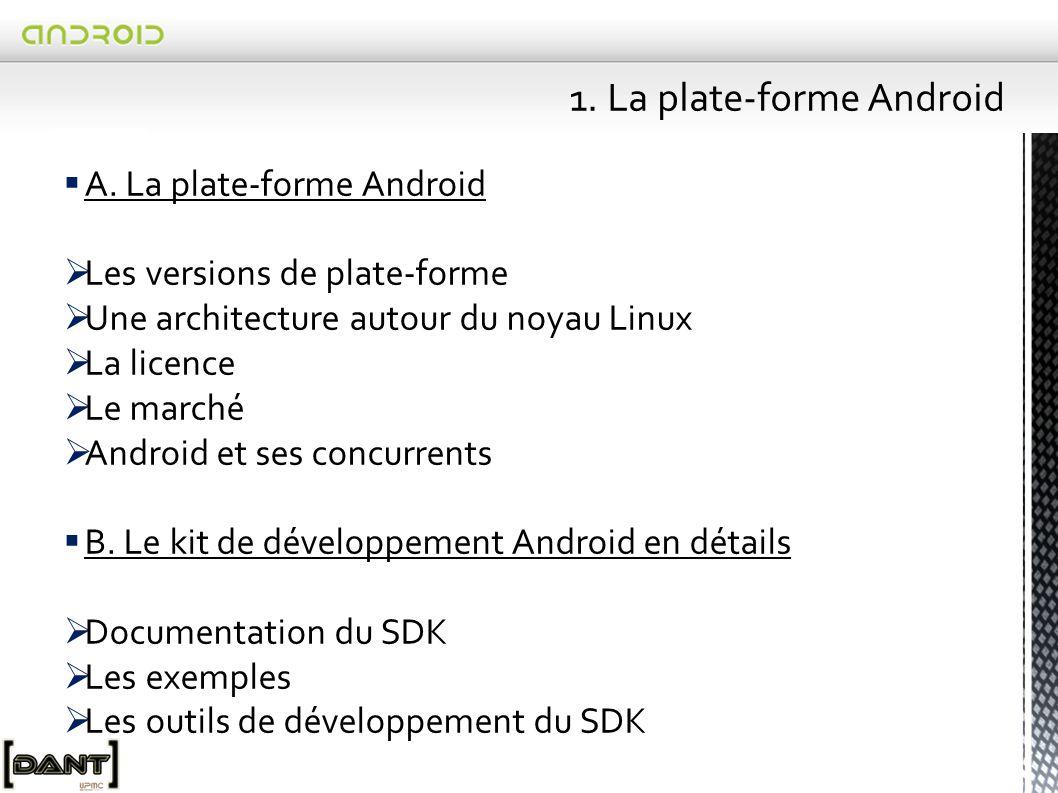  Android -> excellent outil pour le développement d'applications mobiles.