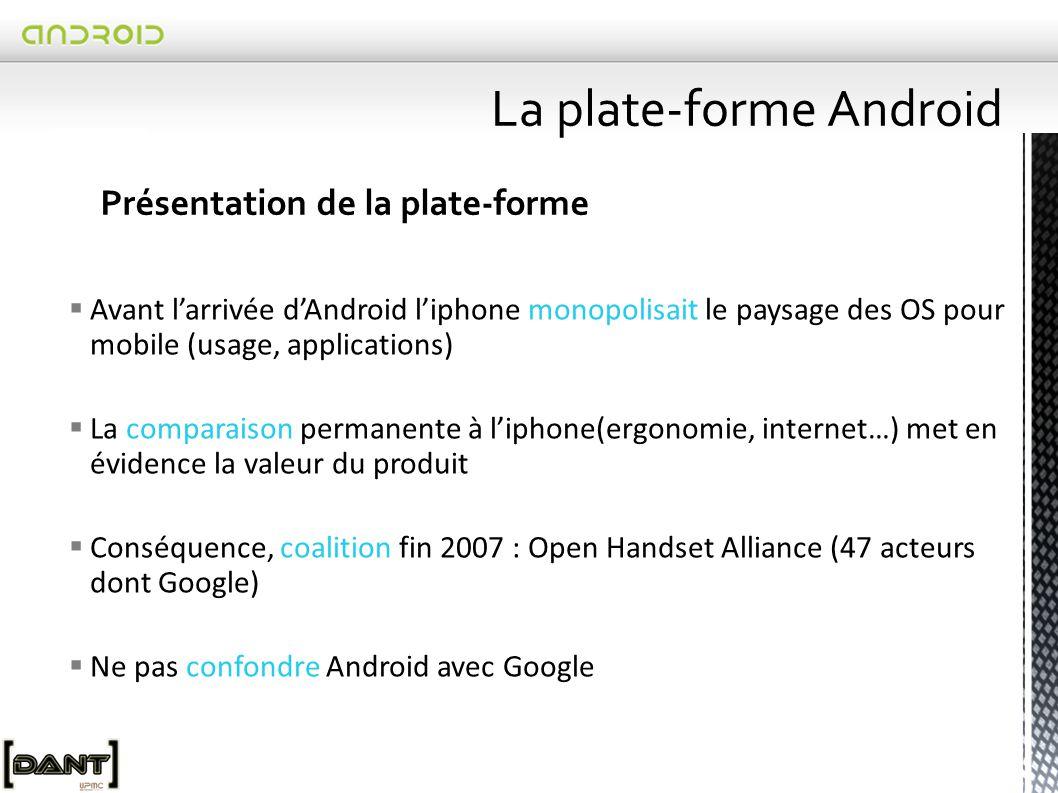 Depuis Juillet 2010, version 2.2 Froyo Les versions de la plate-forme