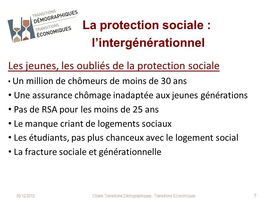 La protection sociale et l'intergénérationnel L'actuelle protection sociale est-elle durable .
