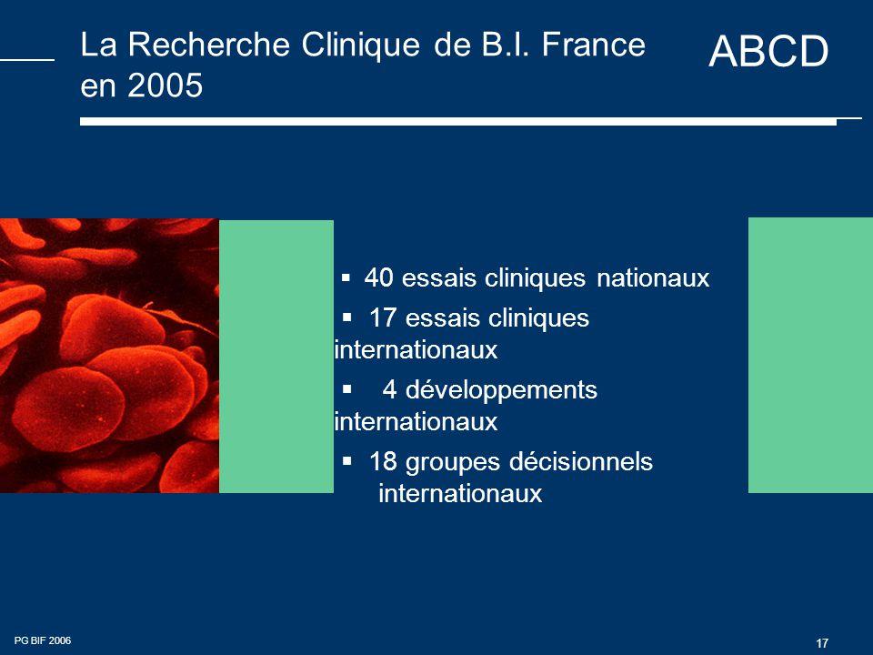 ABCD PG BIF 2006 17 La Recherche Clinique de B.I.