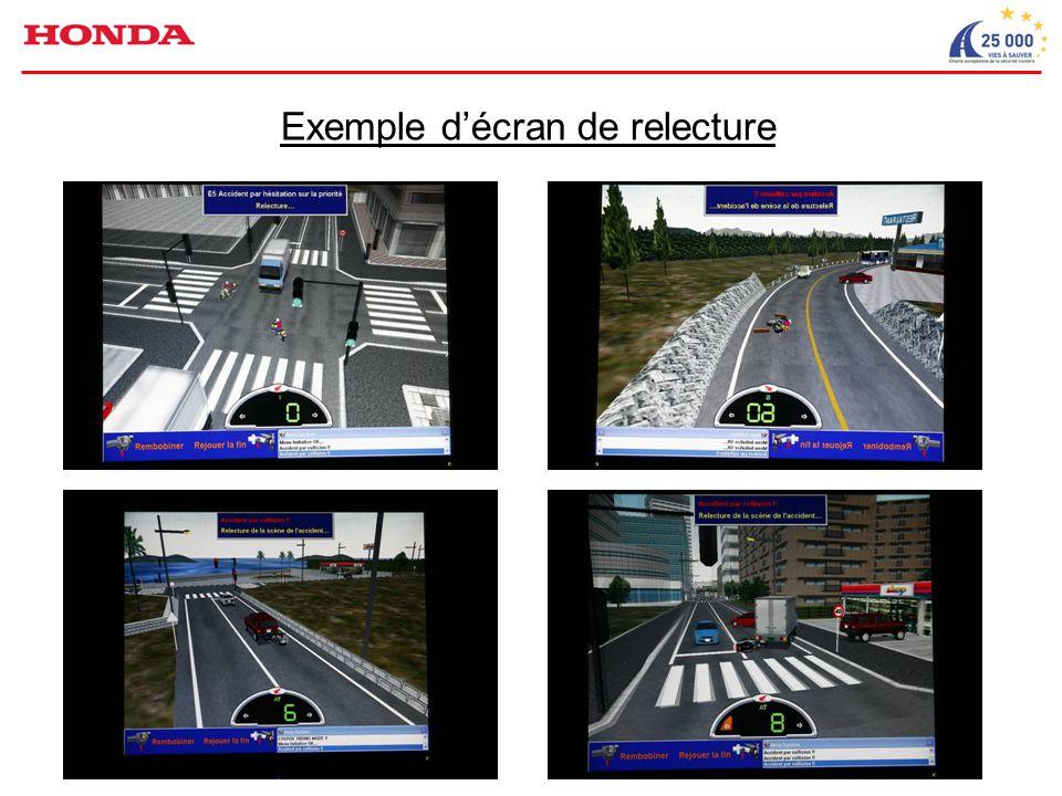 Exemple d'écran de relecture