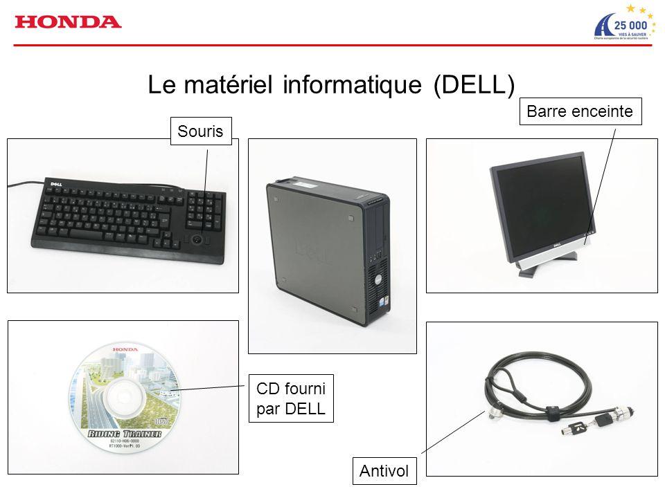 Le matériel informatique (DELL) Barre enceinte Souris Antivol CD fourni par DELL