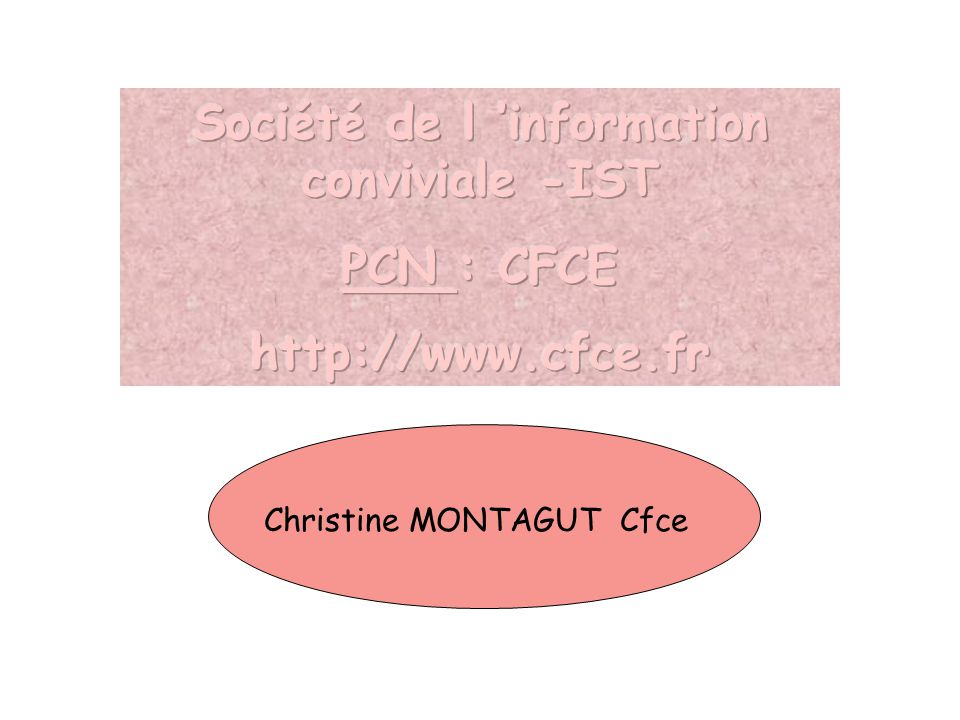 Christine MONTAGUT Cfce