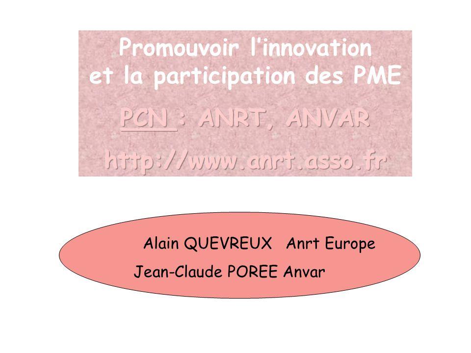 Alain QUEVREUX Anrt Europe Jean-Claude POREE Anvar