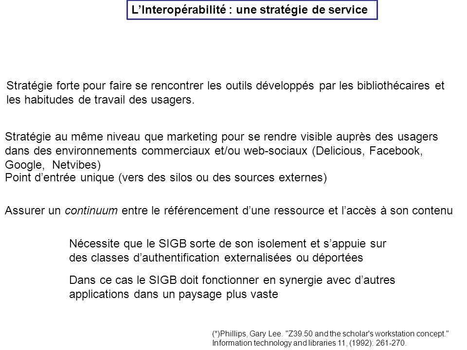L'Interopérabilité : une stratégie de service (*)Phillips, Gary Lee.