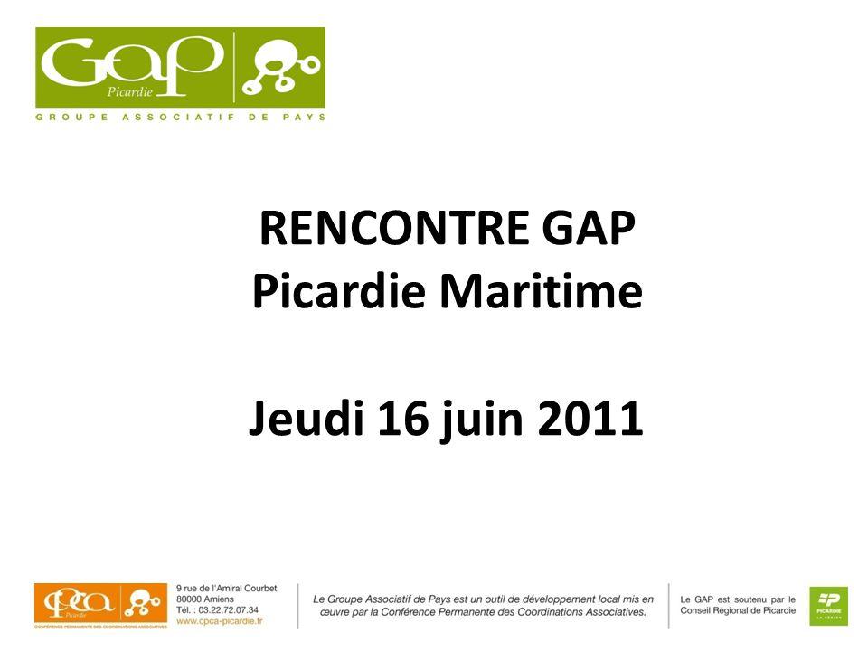 RENCONTRE GAP Picardie Maritime Jeudi 16 juin 2011