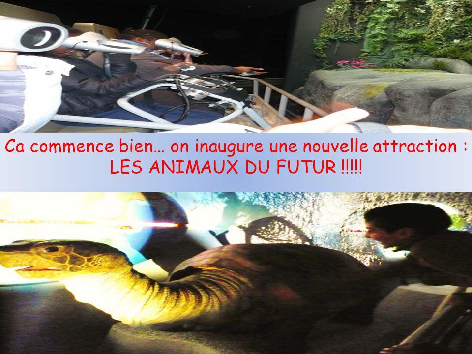 Ca commence bien… on inaugure une nouvelle attraction : LES ANIMAUX DU FUTUR !!!!!