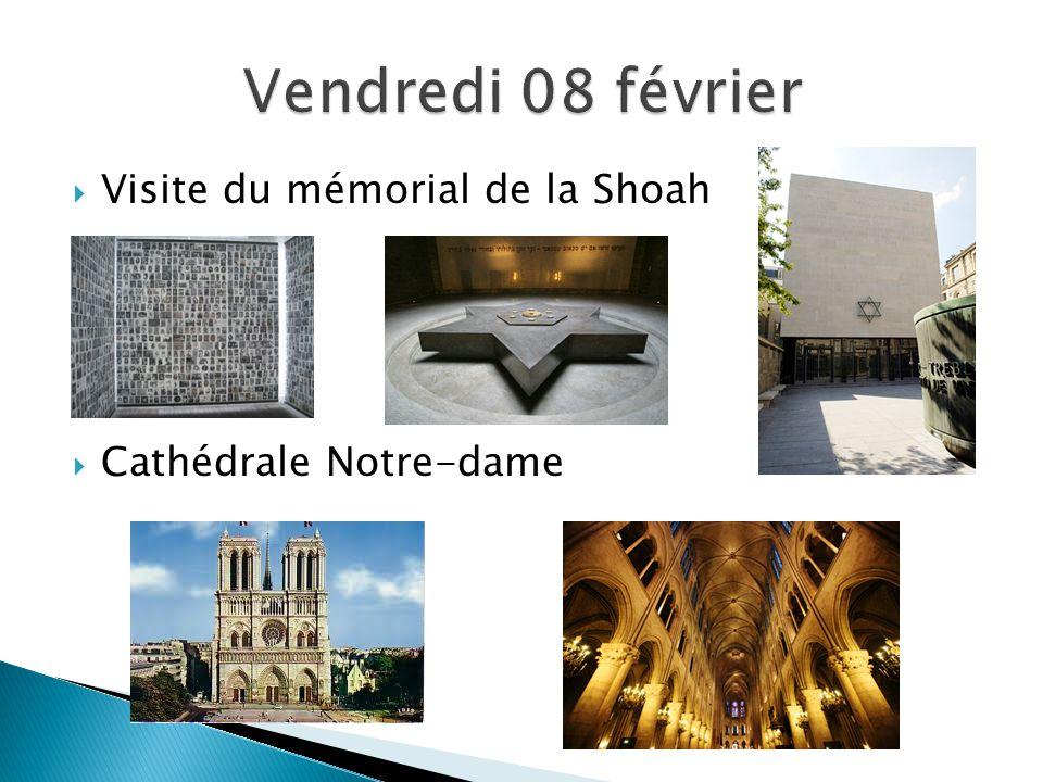  Visite du mémorial de la Shoah  Cathédrale Notre-dame