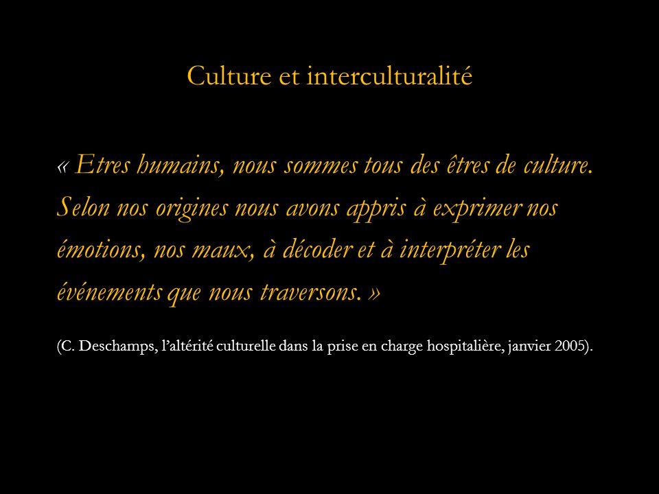 Culture et interculturalité « Etres humains, nous sommes tous des êtres de culture.