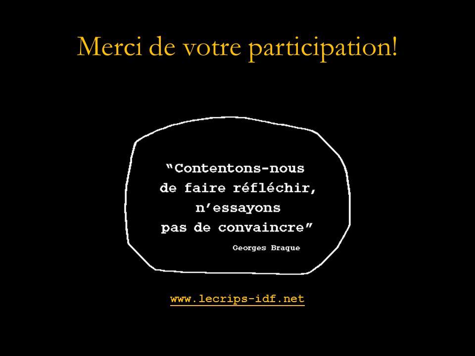 Merci de votre participation! www.lecrips-idf.net