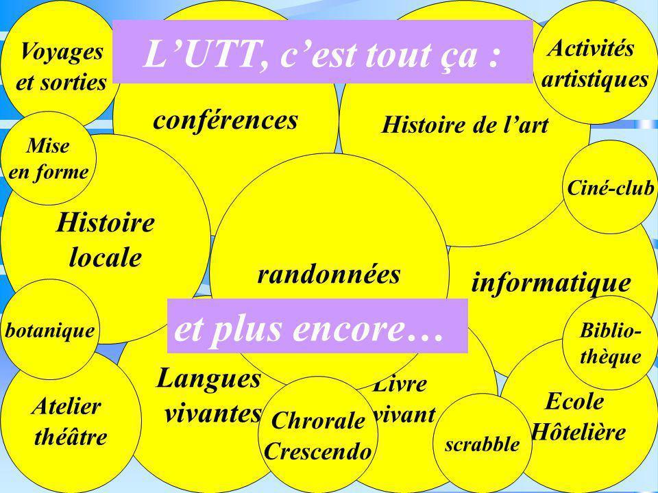vous invite à découvrir ses différentes activités... L'UTT