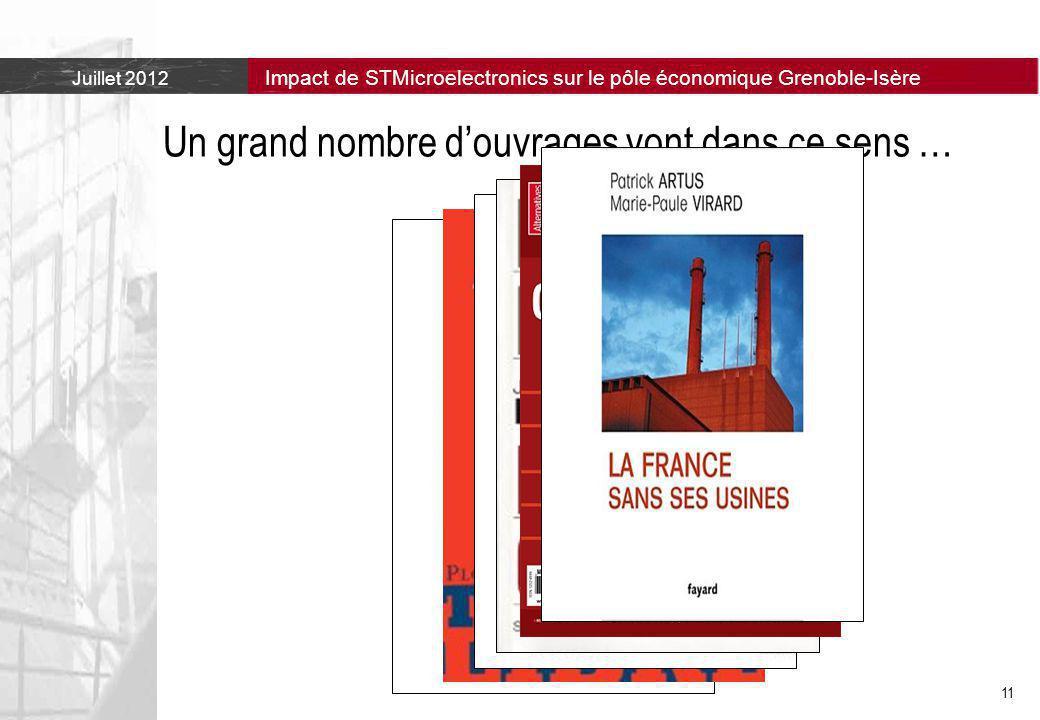 Juillet 2012 Impact de STMicroelectronics sur le pôle économique Grenoble-Isère 11 Un grand nombre d'ouvrages vont dans ce sens …