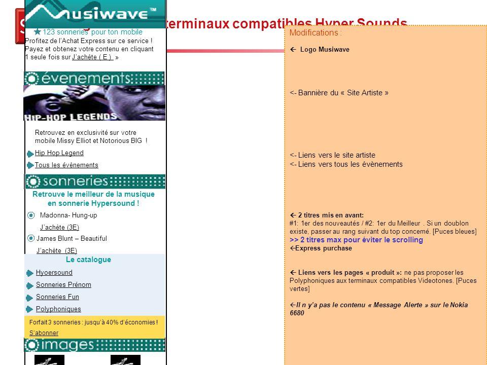 Story-board Musiwave - 17 Page d'accueil terminaux compatibles Hyper Sounds La chose J'achète (2E) Le Meilleurs Nouveautés + d'images Madonna- Hung-up