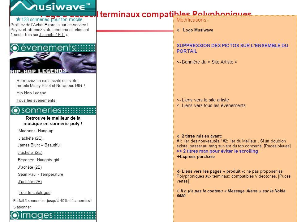 Story-board Musiwave - 18 Page d'accueil terminaux compatibles Polyphoniques Le Meilleurs Nouveautés + d'images Madonna- Hung-up J'achète (2E) James B